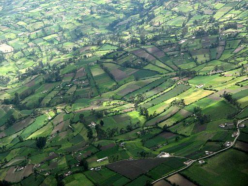 Foto aérea de la región de Ipiales