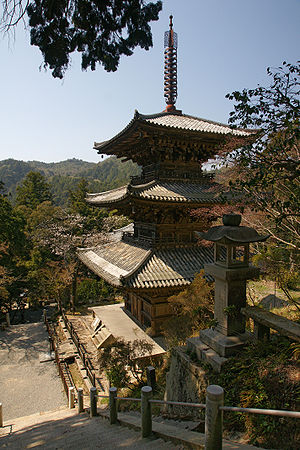 Pagoda of Ichijō-ji Buddhist temple (Japan's N...