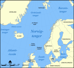 English: A map showing the location of the Nor...