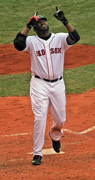 David Ortiz celebrating a home run