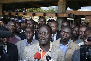 Orange Democratic Movement leader Raila Odinga...