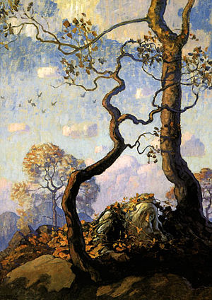 Rip Van Winkle Illustration by NC Wyeth