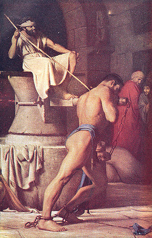 Samson in the Treadmill, by Carl Bloch, Danish...