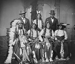 "English: Group of Sioux Indians ""Spotted ..."