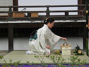 The Japanese tea ceremony is performed sitting...