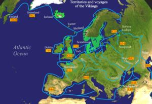 Viking sailors reached the White Sea to the ea...