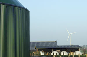 English: Renewable Energies: Biogas (fermenter...