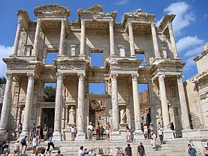 Celsus Library was built in 135 AD and could h...
