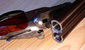 Colt Shotgun, open for loading