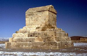 Cyrus tomb in Pasargades, the oldest base-isol...