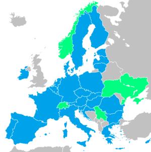 The European Defence Agency (EDA) members: Blu...