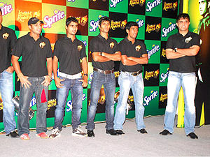 Sourav Ganguly with Knight Riders