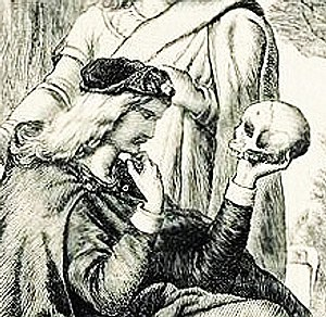 Hamlet with Yorick's skull