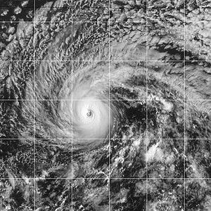 Hurricane Jimena at its peak on August 30, 2003.