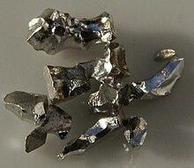 Pieces of pure iridium