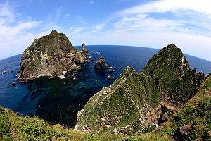 The Liancourt Rocks, known as Dokdo (or Tokto,...