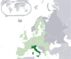 Vị trí của Ý