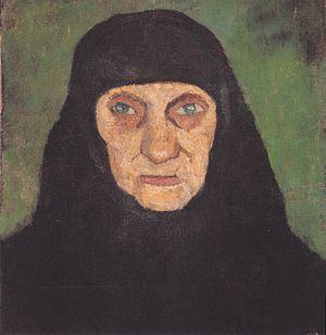 Modersohn-Becker - Kopf einer alten Frau mit s...