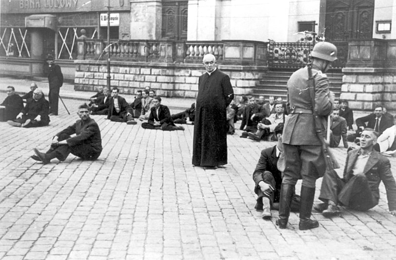 File:Polish Priest as a German Hostage 1939.jpg