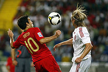 Deco   Wikipedia Deco playing for Portugal against Denmark in 2008