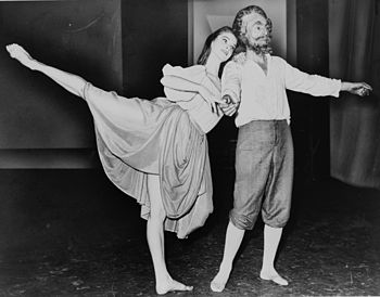 Suzanne Farrell and George Balanchine dancing ...