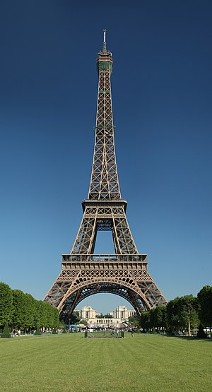 Česky: Eiffelova věž z Martova pole Deutsch: D...