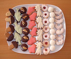 English: Christmas cookies in Czech republic. ...