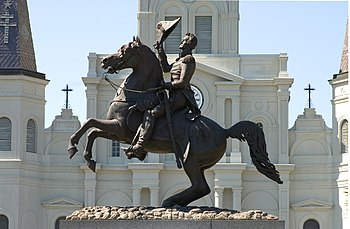 English: Statue of Andrew Jackson, sculpted by...