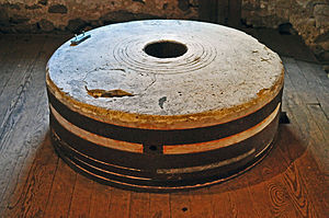 English: The millstone at the Mill at Anselma,...