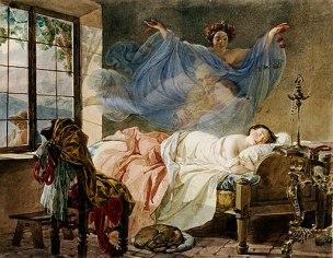 Briullov, Karl - A Dream of a Girl Before a Sunrise