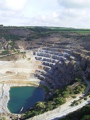 Delabole Slate Quarry, Delabole, Cornwall, UK