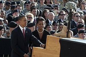Taking part in a Nov. 10, 2009, memorial servi...