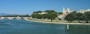 The Rhone at Avignon.