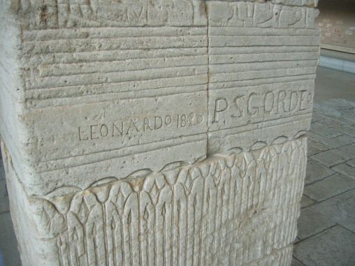Graffiti on Temple of Dendur