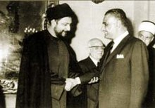 Musa as Sadr with Nasser in the 1960s