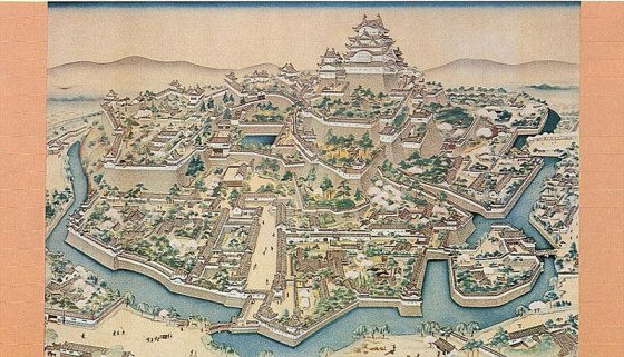 Ficheiro:Old painting of Himeji castle.jpg
