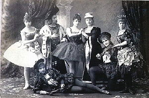Publicity shot of the original cast of Tchaiko...