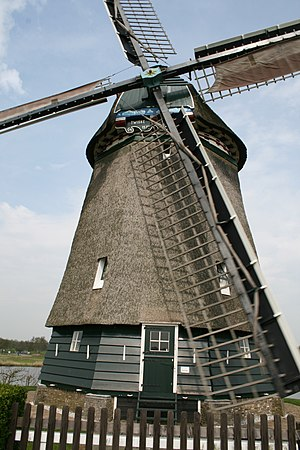 English: Windmill Twiskemolen in nature area H...