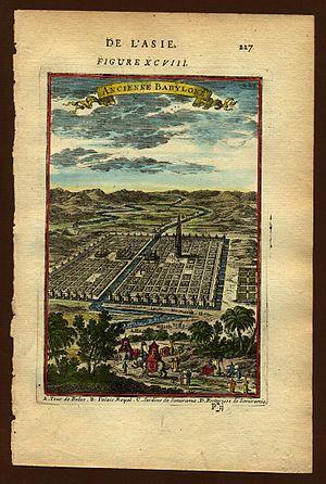 View of ancient Babylon, Description de L'Univ...