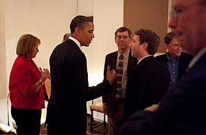 English: Barack Obama and en:Mark Zuckerberg t...