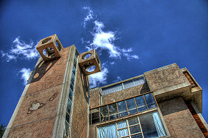 Tower at the Arcosanti experimental town.