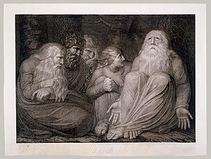 An early engraving by Blake for the Book of Job