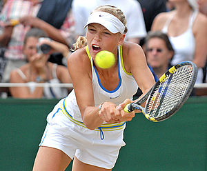 Caroline Wozniacki at the 2006 Wimbledon girls...