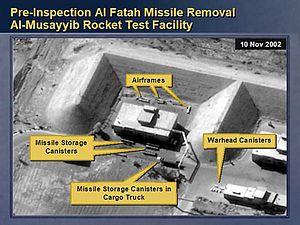 February 5, 2003 a cargo truck preparing to mo...