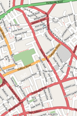 Map of Gray's Inn Road