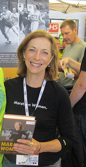 English: Kathrine Switzer at the 2011 Berlin M...