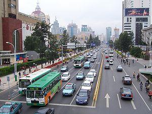 Street in KunMing, YunNan, China