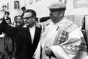 Español: Salvador Allende y Pablo Neruda.