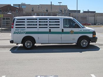 Jail transport van of the Shelby County Sherif...