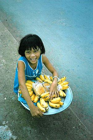 Vietnam Saigon Child in the Street